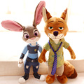 1pc 40cm movie Zootopia Judy rabbit Nick fox delicate plush doll creative romantic children kids boy stuffed toy