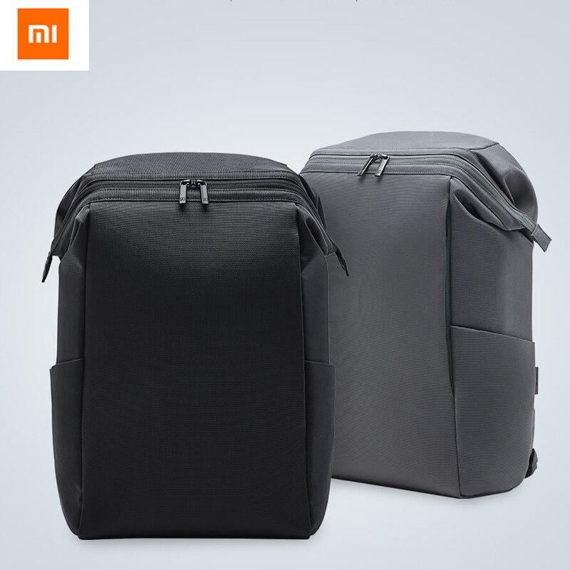 2 couleurs Original Xiaomi 90FUN sac Commuter sac à dos baril ouverture 4 niveaux de déperlant Simple et léger pour voyage travail