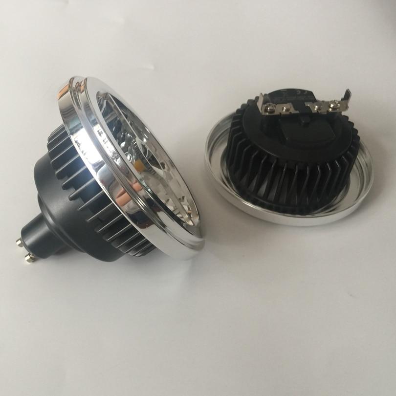 AR111 LED Lamp 20W G53 GU10 LED Spotlight 12V AC85 265V Cylindrical Shape CREE COB ES111