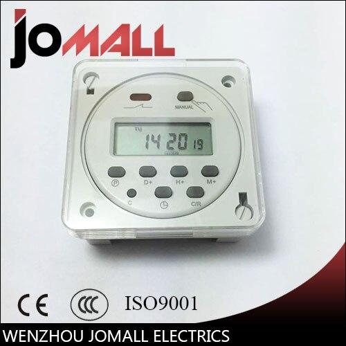 CN101A LCD temps commutateur 12 V 24 V 110 V 220 V Temps Relais Rue lampe panneau alimentation minuterie avec boîte de preuve de l'eau