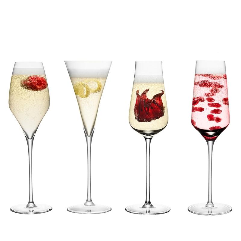 Creatieve loodvrij kristal champagne fluiten glas wijn bril bruiloft champagne wijn bekers - Loodvrije kristal ...