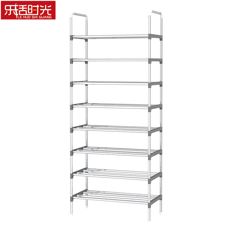 9 Tier Iron Shoe Rack with Handrail Simple Assembled Hallway Shoes Shelf Standing Furniture Saving Space Shoe Organizer nocm shoe rack free standing adjustable organizer space saving black 6 tier