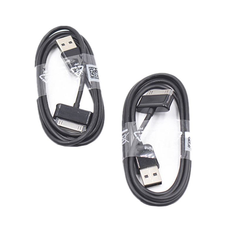 2 PCS 1M 30 Pin <font><b>USB</b></font> Charger Data Sync Cable Charging Cord for <font><b>samsung</b></font> galaxy tablet P1000 P3100 P3110 <font><b>P5100</b></font> P5110 P6800 P7300 image