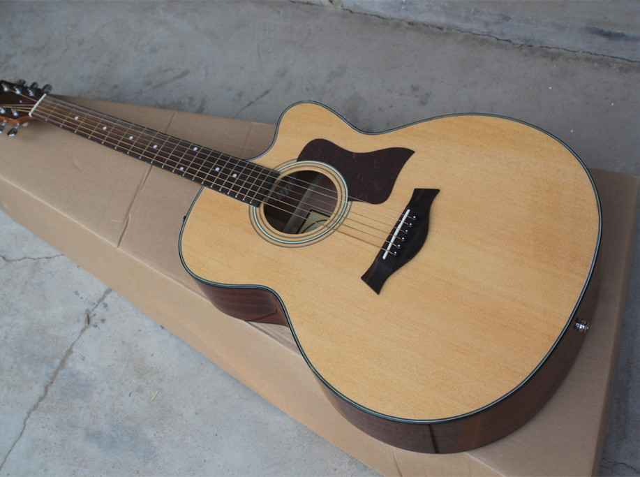 2018 New Factory Chaylor 314 acoustic guitar TY 314ce acoustic electric guitar KSG OEM electrical acoustic