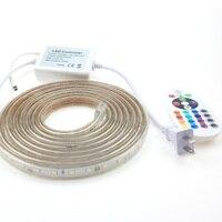 220V RGB LED Strip 5050 Waterproof IP67 10m 9m 8m 5m 4m 3m 2m 1m With