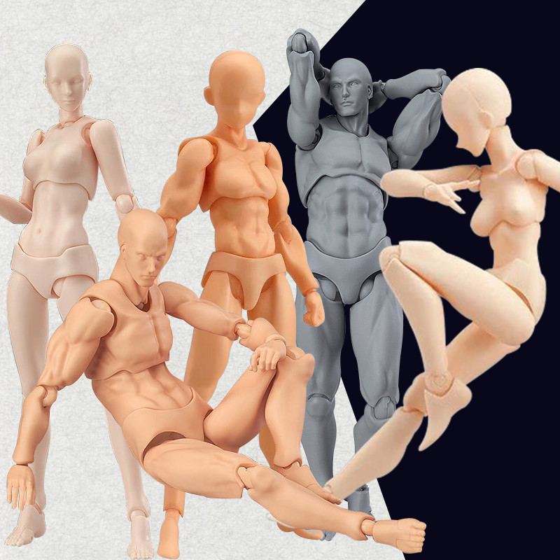 Toys Figures-Joint Movable-Model Figma Human-Doll Drawing Body-Chan SHF Comic Action