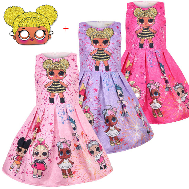 ce256b7e4b34 Girls LOL Surprise Doll Dress Baby Children s Clothing Kids dolls ...