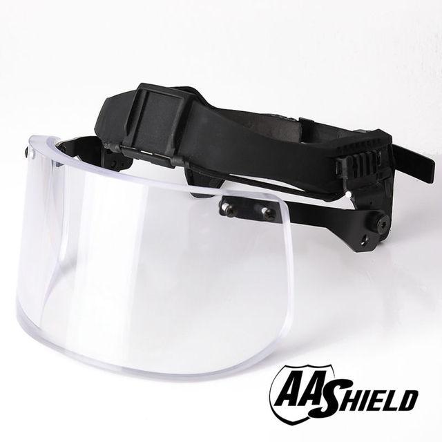 AA Shield Ballistic Visor Face Bulletproof Glass Mask For Fast Helmet Body Armor Mask Lvl IIIA 3A