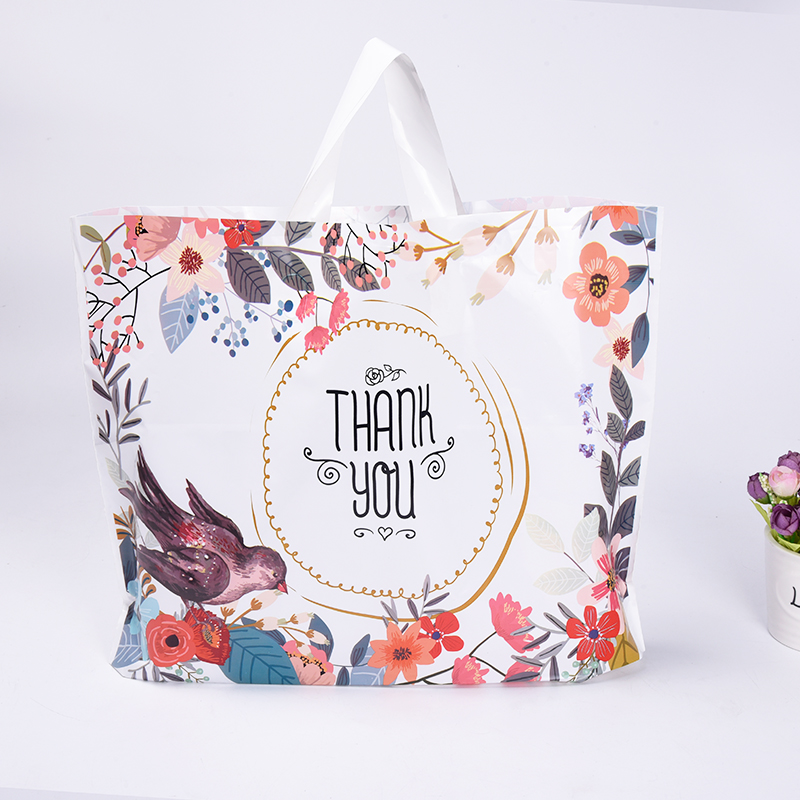 3 Sizes 300 PCS/lot Customized Logo Large Magpie Wedding Carrier Bag For Shopping Good Quality Plastic Bags Wholesale