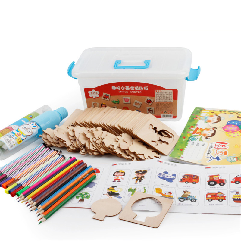 Baby Drawing Toys sets with pens wooden Coloring Board Children ...
