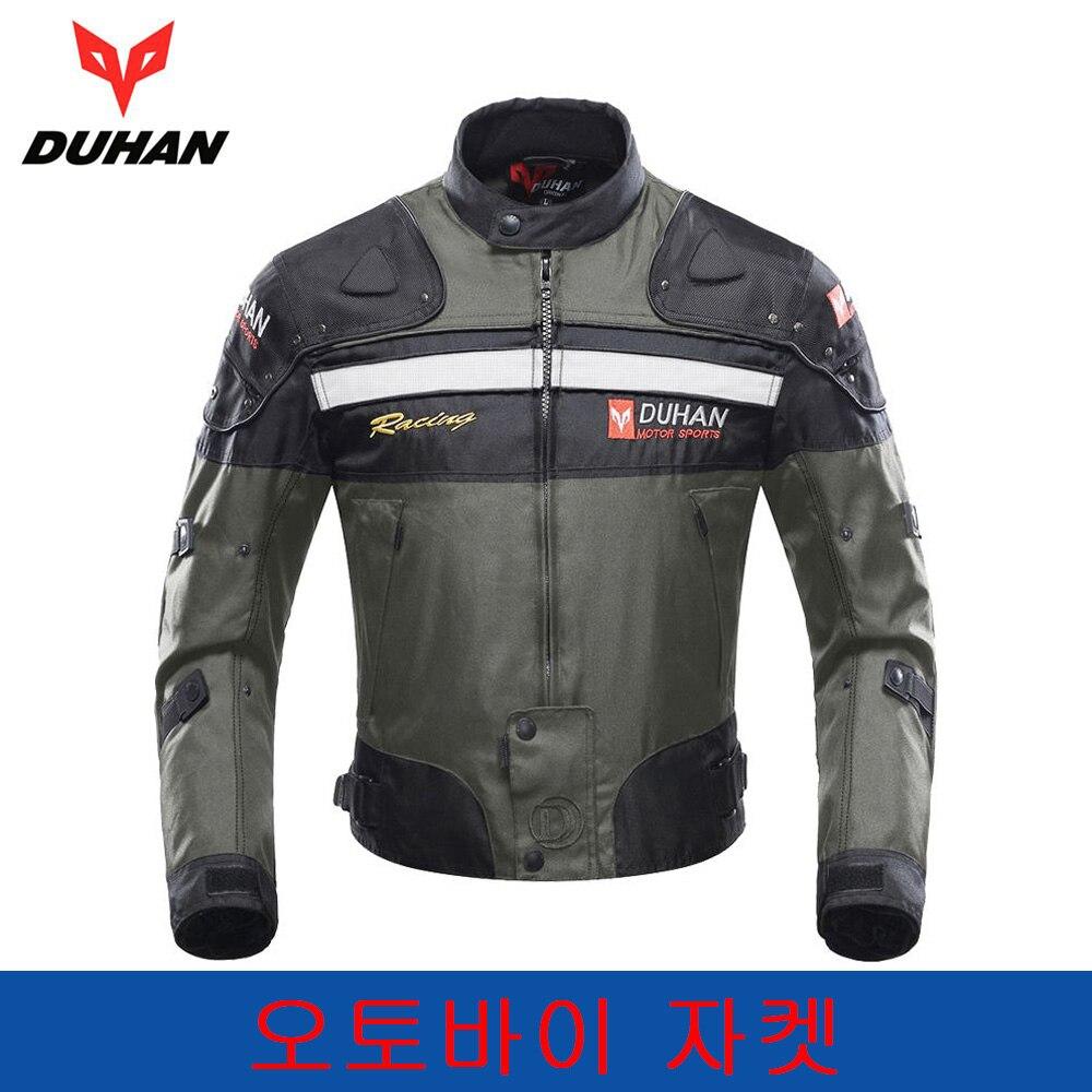 DUHAN veste de Moto Motocross veste Moto hommes coupe-vent vêtements résistant au froid Moto équipement de protection pour l'hiver automne