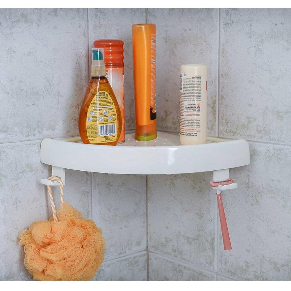 Corner Storage Rack Holder Shelves —Bathroom Punch-free Corner Snap Up Shelf