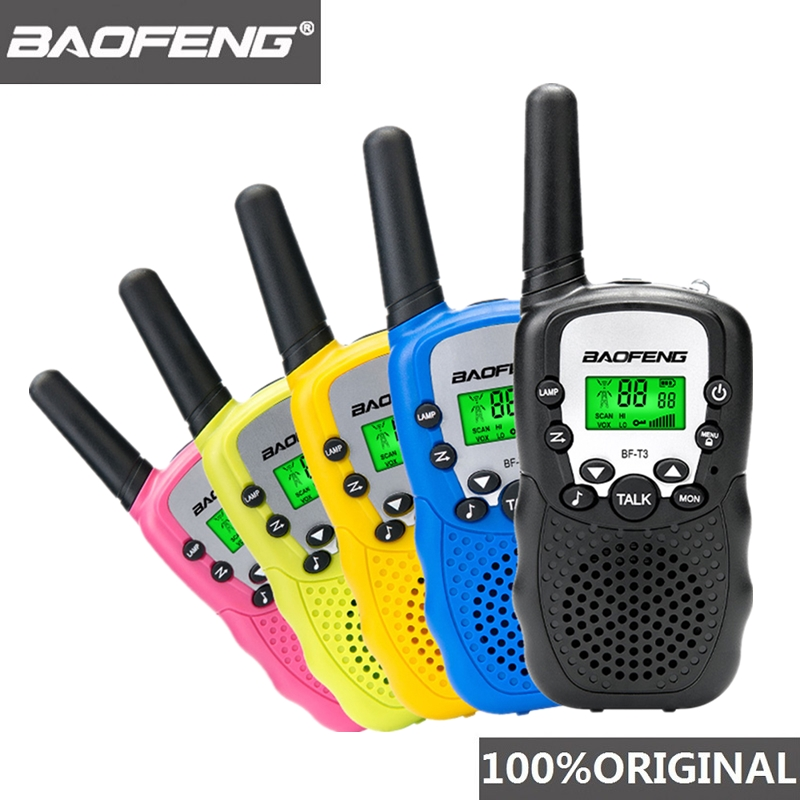 2pcs Wholesale Children Mini Kids UHF Walkie Talkie BF T3 Baofeng FRS Two Way Radio Comunicador T3 Handy Talkie Hf Transceiver