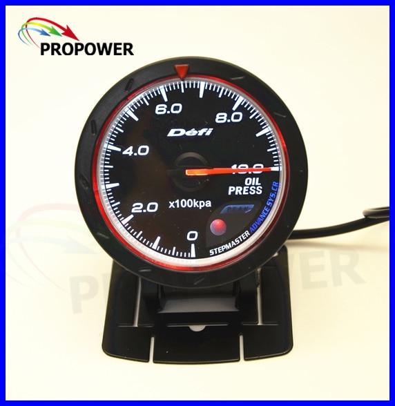 2 5 60MM DF Advance CR Gauge Meter Oil Pressure Gauge Black Face With Oil Sensor