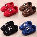 Mocassins Meninos Meninas Primeiro Sapatos Caminhantes Da Criança do bebê Dos Miúdos Macio Sole Berço Prewalkers Bebês Vermelhos Não-deslizamento Tênis