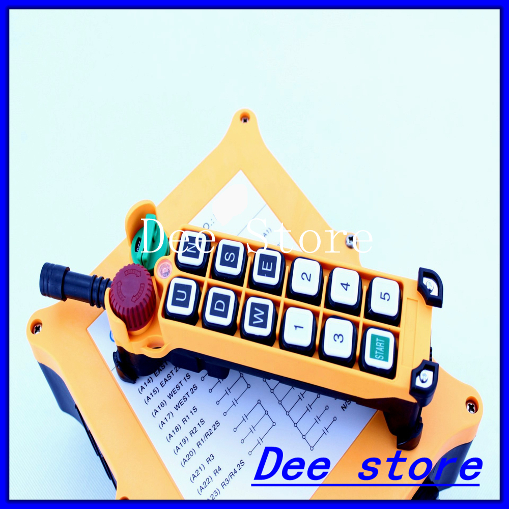 2 Speed 1 Transmitter 11 Channels Hoist Crane Industrial Truck Radio Remote Control Push Button Switch System Controller