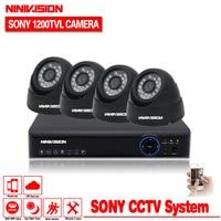 1TB HDD 4CH H 264 DVR NVR CCTV System Onvif P2P 1080P HDMI Sony Sensor Indoor
