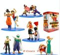 10pcs Japan anime Dragon ball with One piece Luffy with Goku Zoro with Piccolo pvc figure toy tall 10cm set.
