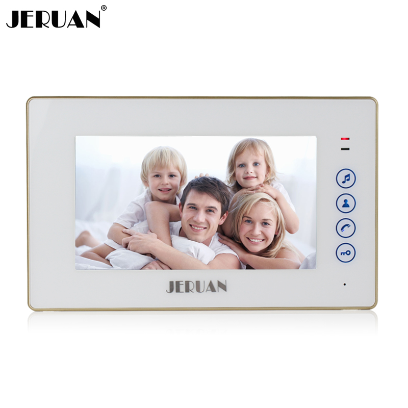 JERUAN 7 inch TOUCH Key Screen video door phone intercom system only indoor unit 720W monitor + Power Adapter jeruan 7 inch video intercom door phone system only monitor indoor unit power adapter free shipping 724