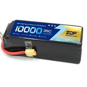 Image 4 - ZDF bateria Lipo 2S, 3S, wtyczka do samolotu RC, samochodu Traxxas, ciężarówki RC, 7,4 V/11,1 V 10000 mAh, 35C Max 70C XT90 /XT60/T