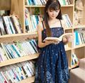 Из двух Частей Звезды и Угол Печати Готическая Лолита Косплей Dress Японский Темно-Синий Девушки Summer Dress
