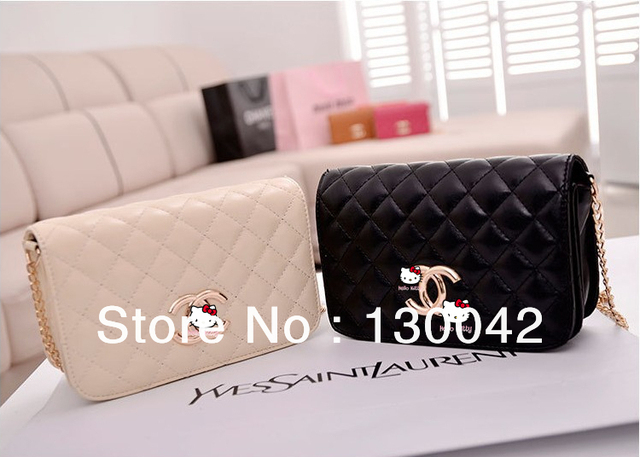 2013 summer shiny women's plaid embroidery chain day clutch evening bag messenger bag FREE SHIPPING