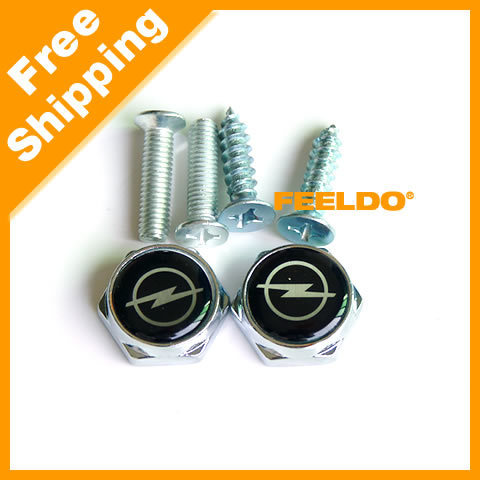 Free Shipping Car/Turck License Plate Frame Bolt Screws For OPEL #2382