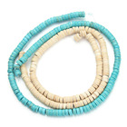 120pcs/pack 0.6cm*0.3cm Geometrical Column White Created Natural Beads Loose Stones Beading Bracelet DIY Finds F1190