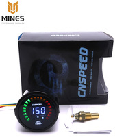 Black 2 Inch 52mm Digital LED Oil Temp Gauge Auto Car Instruments Oil Temperature Gauge Car