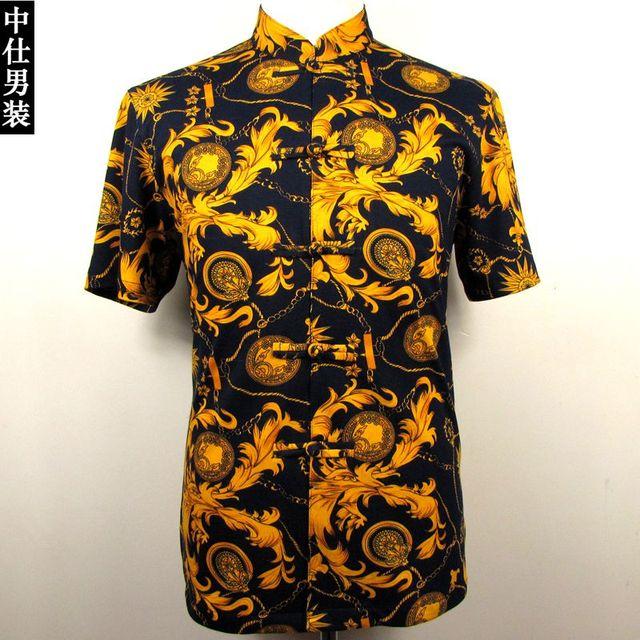 bbc4c536 male gold black shirt summer fashion costume costume for singer dancer star  nightclub performance show prom