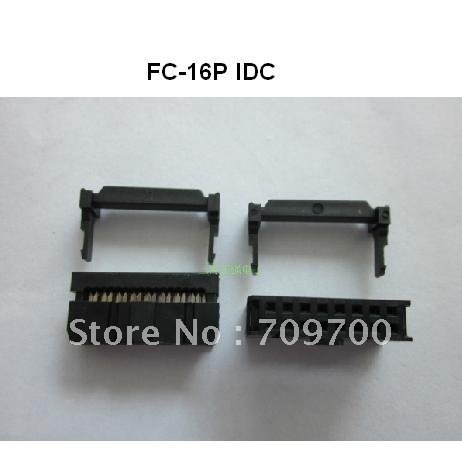 Free shipping 20pcs IDC FC-10P Connector 10PIN 2.54 mm cable line
