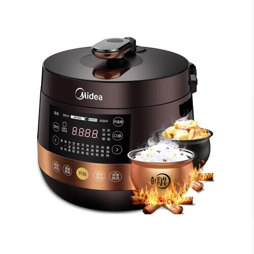 LK1746 Smart Pressure Cooker with 2 Spherical Inner Pot 4.8L 24H Appointment Timing Rice Cooker Pressure Adjustable Non-stick