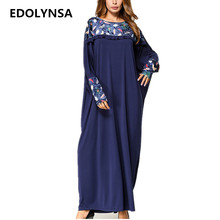 Velvet Patchwork Kaftan Maxi Dress Batwing Sleeve Women Dresses Soft  Knitting Cotton Fabric Robe Plus Size Womens Clothing  D316 d6286e125c23