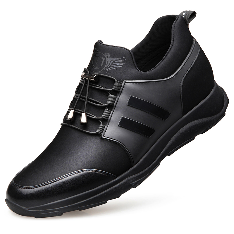 Été Noir chaussures pour hommes à lacets Non-En Cuir chaussures décontractées Hommes chaussures de loisirs Respirant Appartements baskets confortables DA059