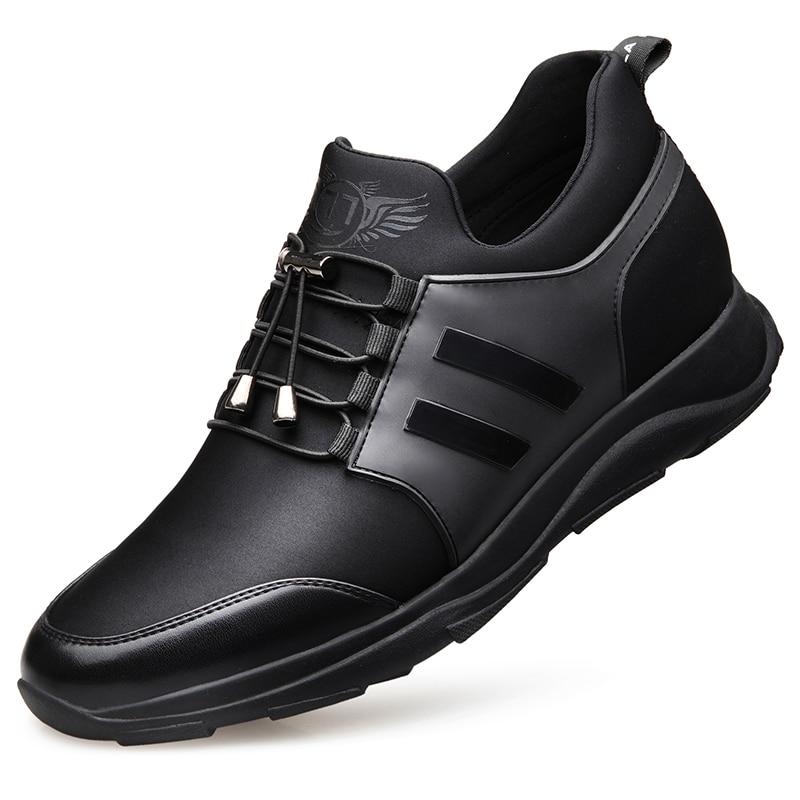 Da059 3 5 Lazer Respirável Não 4 1 2 Flats Sapatilhas Verão Lace Homens Preto Sapatos couro Casuais Confortáveis Up 6 qwFAOa