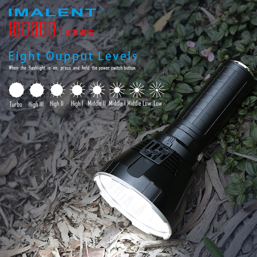 Rechargeable Flashlight Brightest-Torch Powerful Adventure 100000-Lumens Imalent Ms18
