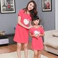 Verão camisola e salão roupas Sleepwear camisola família para a mãe e Duaghter Sleepshirts Pijamas mujer