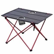 Складные портативные столы для сада, походные столы из алюминиевого сплава для пикника, сверхлегкие столы для отдыха, многофункциональные столы для барбекю