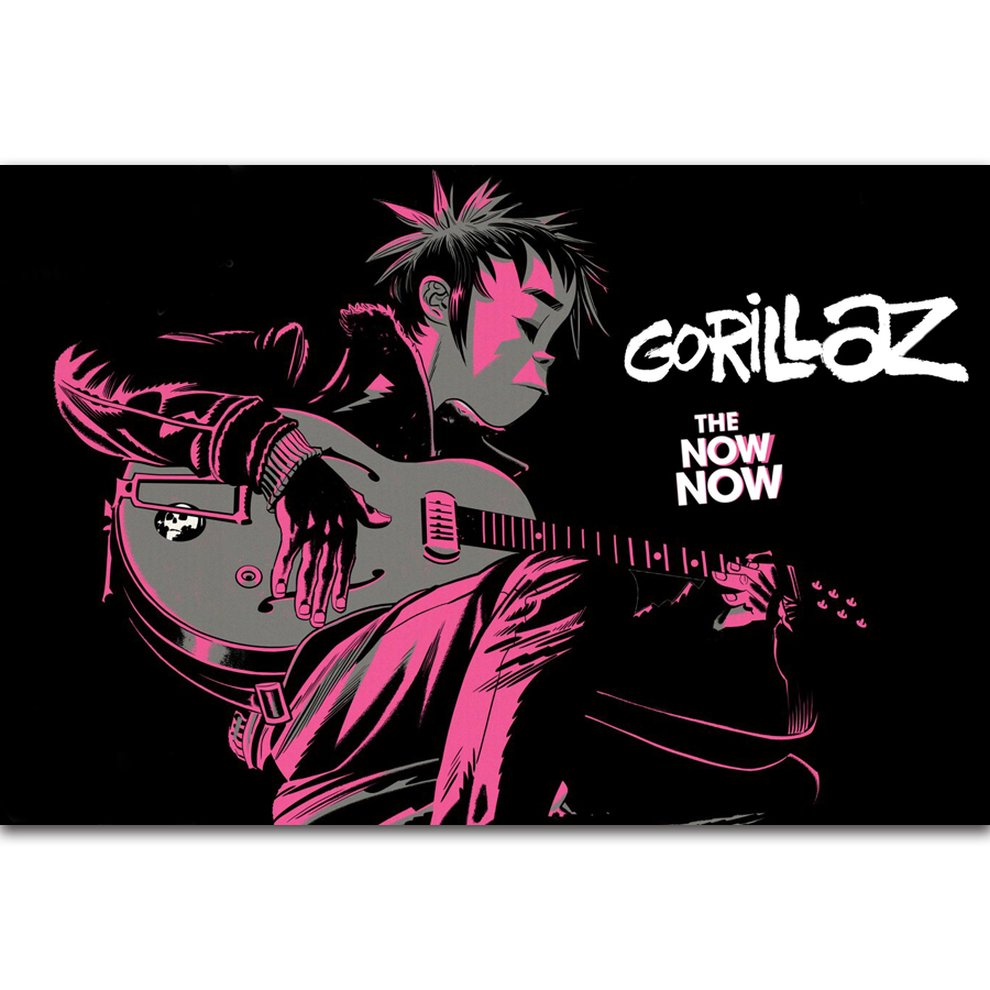 Rock Music Cover Us 5 38 7 Off Fx466 Hot New Gorillaz The Now Now 2018 Rock Music Band Tour Cover Hot Custom Poster Art Silk Canvas Home Room Wall Print Decor In