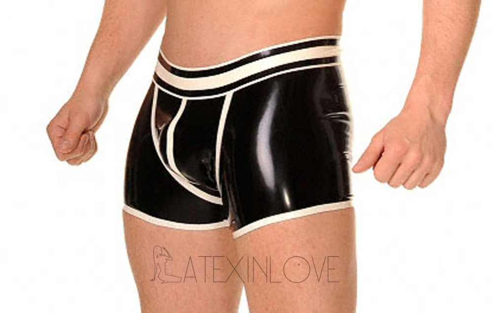 57fd2688be5 Detail Feedback Questions about Sexy Black Men's Latex Boxer Briefs ...