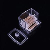 Держатель для хранения акриловая хлопок Макияж хранения Портативный Ватные диски контейнер прозрачный ватные тампоны Придерживайтесь кос