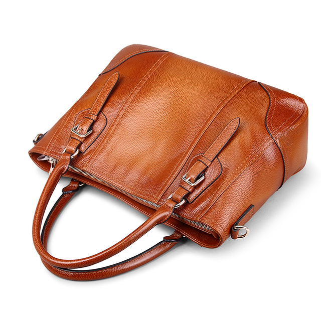 Go Meetting Genuine Leather Women's Handbags Sprayed Color Cow Leather Women Shoulder Bag High Quality Vintage Messenger Bags