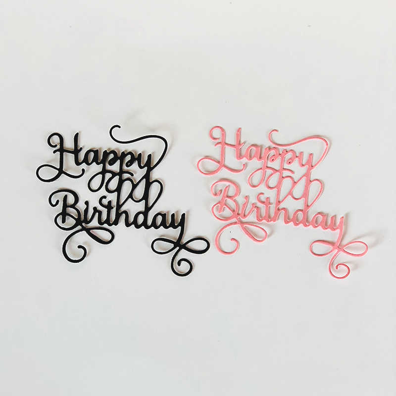 Happy Birthday Metal Cutting Dies for Scrapbooking DIY Album Embossing Folder Paper Card Maker Template Decor Stencils Crafts