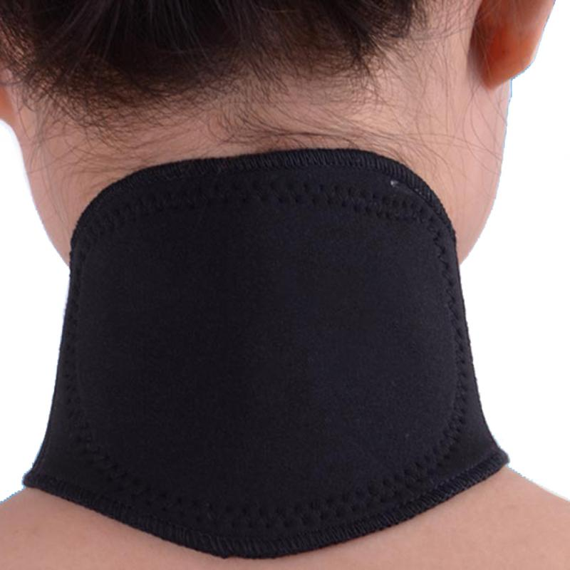 New Black Tourmaline Self Heating Magnetic Therapy Headache Belt Neck Massager Belt Health Care