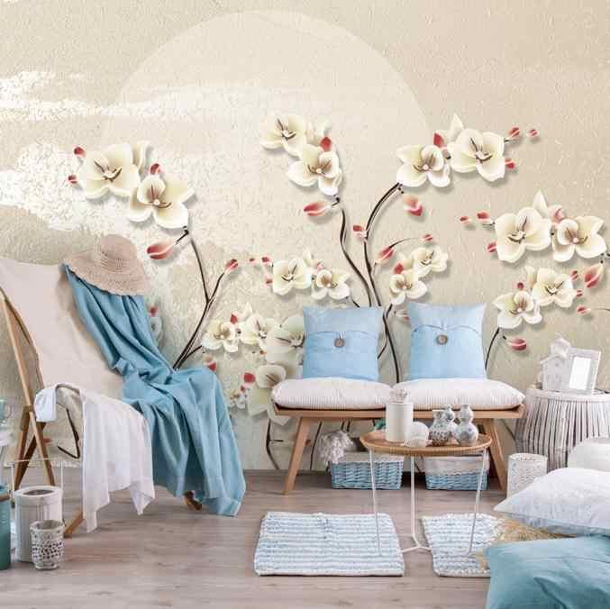 Desktop Wallpaper For Walls 3 D Nordic Simple Modern Aesthetic Custom Photo Living Room Study Kitchen Flower Murals