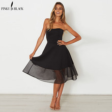 PinkyIsBlack vintage Sweet style A-Line dresses 2018 New Summer fashion sleeveless elegant dress Sexy club party short