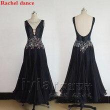 Ballroom Dance Kleid V Kragen Zurück Eröffnung Spezielle Bieten Frauen Latin Dance Kostüm Salsa Samba Tango Wettbewerb Kostüm Kleid