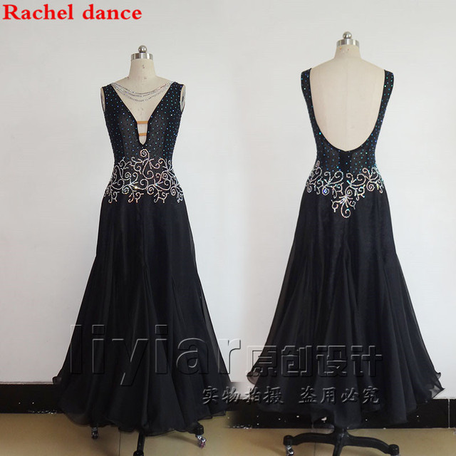 סלוניים ריקוד שמלת V צווארון חזרה פתיחת הצעה מיוחדת נשים לטיני ריקוד תלבושות סלסה סמבה טנגו תחרות תלבושות שמלה