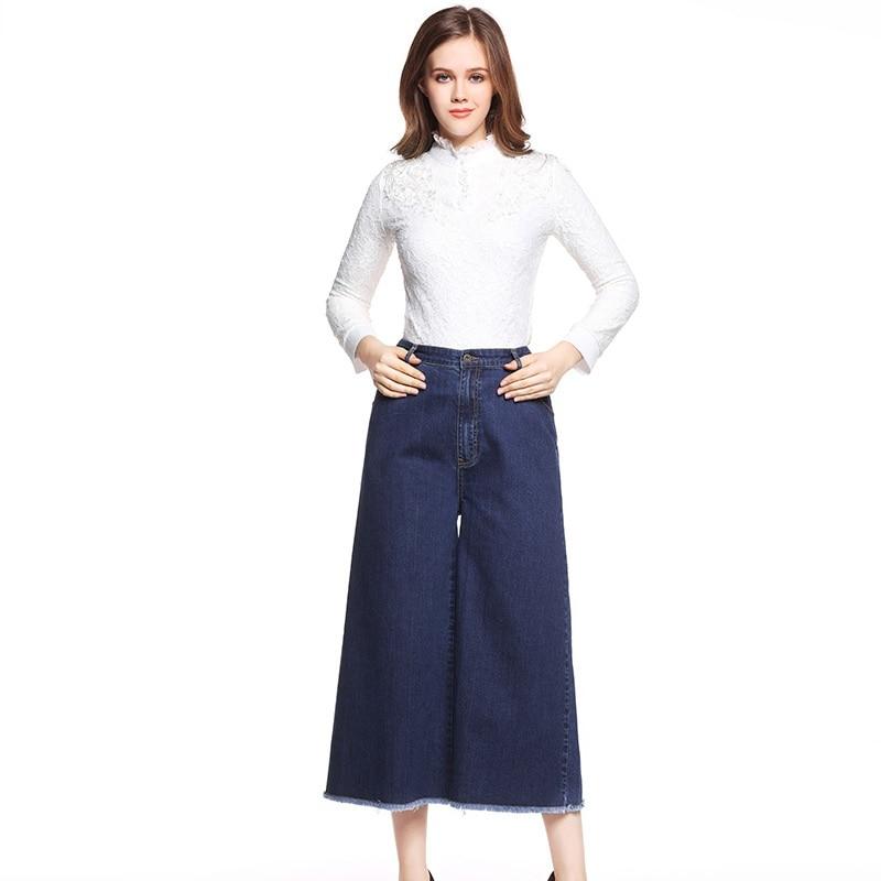 Plus size 5xl women large size wide leg jeans female loose casual womens elastic waist pants fashion ZP1078 hot new large size jeans fashion loose jeans hip hop casual jeans wide leg jeans