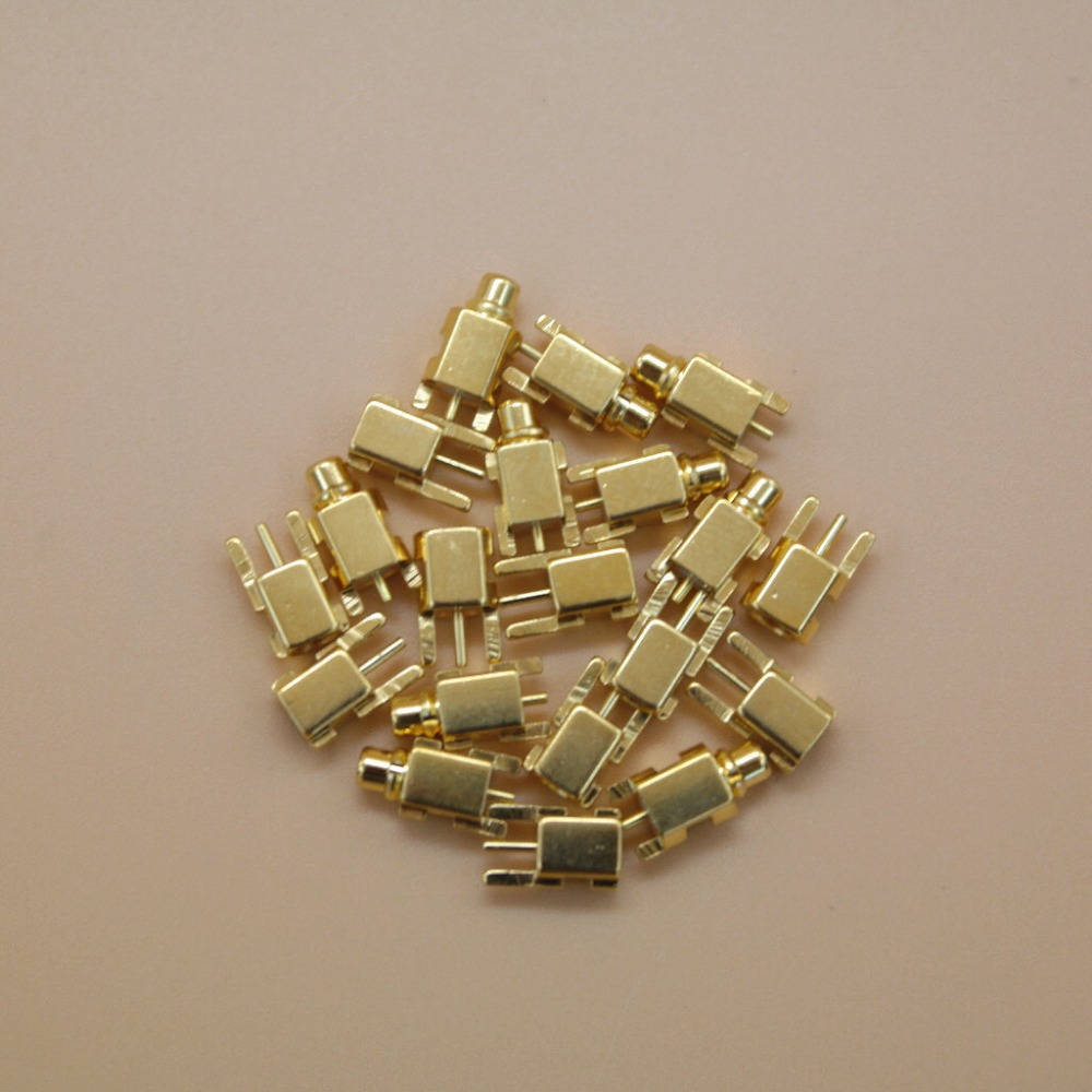 Original 5 Pairs MMCX Female Or Male Jack For Se215 SE315 UE 900 Diy Earphone RF Coax Connector PCB Mount Pure Gold plated ...